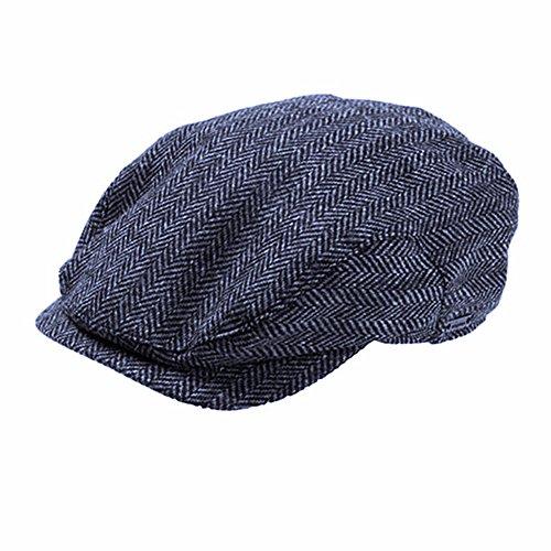 Wigens Jacob - Ivy Style Wool Herringbone Cap-DarkBlueHerringbone-61