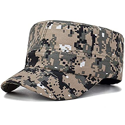 Amazon.com: Funnmart Hot Fashion Camouflage Hat for Men Women Gorras Planas Net Visors Denim Peaked Flat Cap Casquette Boina Masculina: Kitchen & Dining