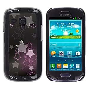MOBMART Carcasa Funda Case Cover Armor Shell PARA Samsung Galaxy S3 MINI 8190 - Mystical Pink Stars