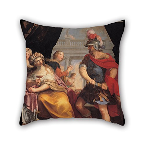 The Oil Painting Giovanni Andrea Sirani - Ulysses And Circe Throw Pillow Case Of ,20 X 20 Inches / 50 By 50 Cm Decoration,gift For Car,teens Boys,christmas,club,family,christmas (twi