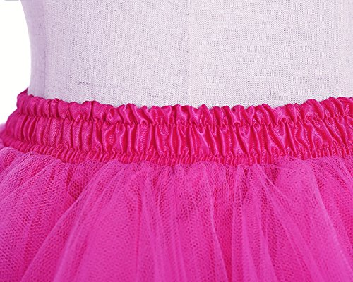 Skirt Honeystore Vintage Fuschia Bubble Ballet Women's Tutu Puffy Short Petticoat 8qE68r