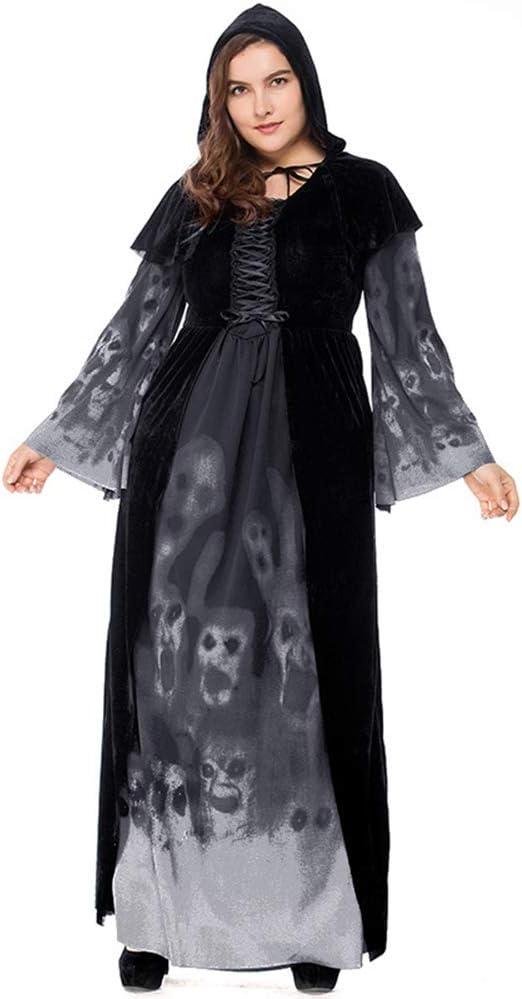 Halloween Print Bruja larga vampiro Service Gran tamaño reina ...