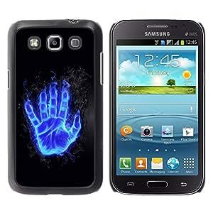 TECHCASE**Cubierta de la caja de protección la piel dura para el ** Samsung Galaxy Win I8550 I8552 Grand Quattro ** Flaming Blue Hand