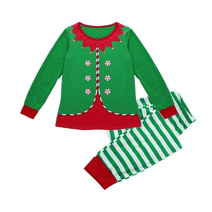 Surfiiy Pijama Familia Navidad Set Mamá Adulto Dos Piezas Elfo de ...