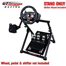 GT Omega APEX Racing Wheel Stand for Logitech G920 G923 G29 Gaming Steering Wheel, Pedals & Shifter Mount - Supporting G27 G25 Fanatec PS4 Xbox PC - Tilt-Adjustable to Ultimate Sim Racing Experience