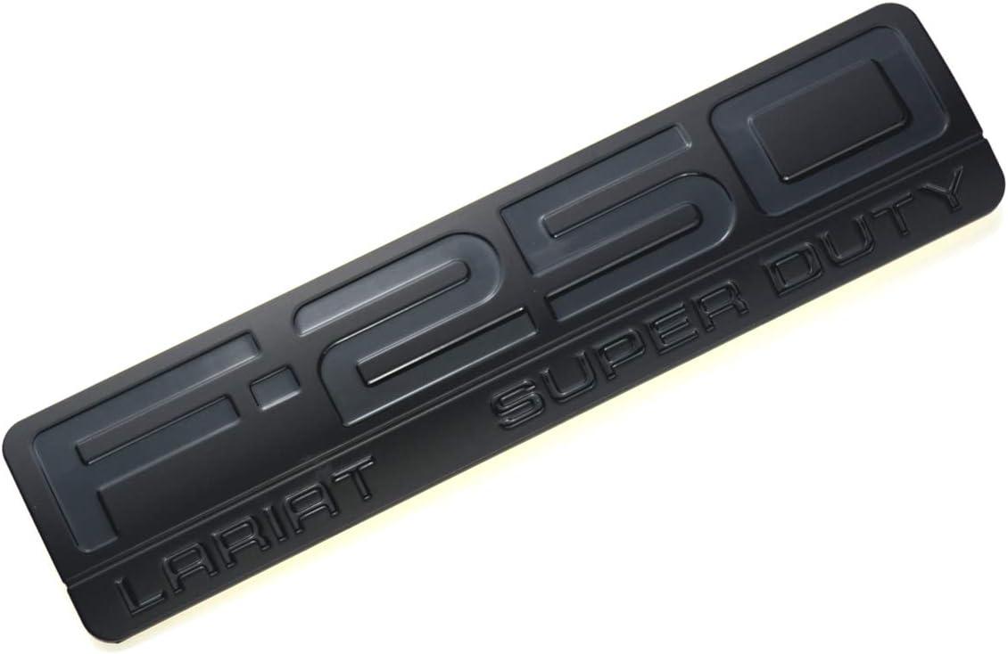 3PCS F-250 Lariat Super Duty Side Fender F250 Emblems Badge 3D Logo Compatible for F250 Lariat Black