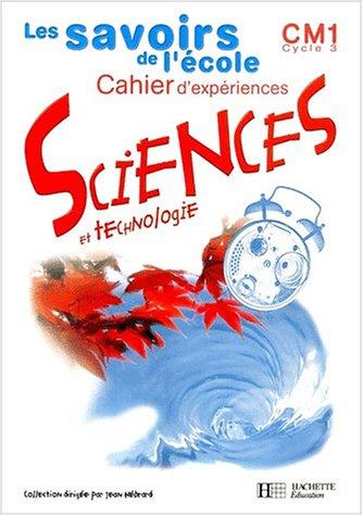 Download Sciences CM1, cycle 3 : cahier d'expériences ebook
