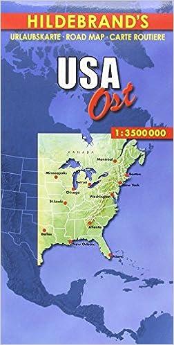 Hildebrand\'s Urlaubskarten, USA, Ost Hildebrand\'s USA maps: Amazon ...