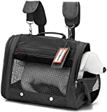 Prefer Pets 328 Pet Backpack Carrier - AIRLINE APPROVED (Black)