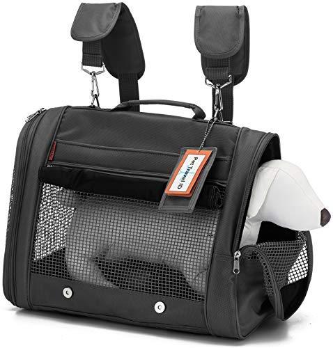 Prefer Pets 328 Pet Backpack Carrier - AIRLINE APPROVED (Black) ()
