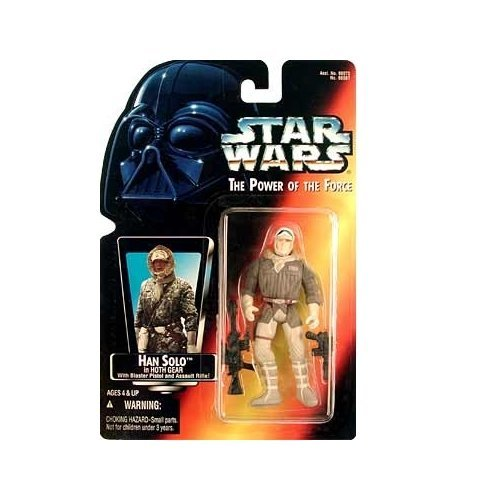 Star Wars, The Power of the Force Red Card, Han Solo in Hoth Gear Action Figure, 3.75 - In La Shopping Kenner