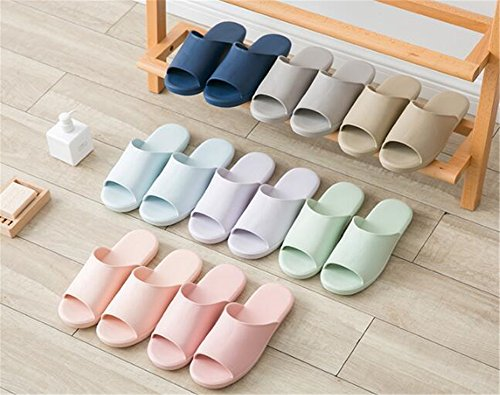 TELLW Bathroom Slippers for Male Female Summer Home Indoor Anti-Slip Thick Bottom Cool Slippers Women Dark Pink eUTCcpV4
