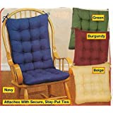 2PC. PADDED ROCKING CHAIR CUSHION SET - BEIGE