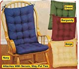 Generic 2PC. PADDED ROCKING CHAIR CUSHION SET, red,