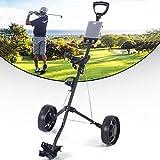 MD Group Golf Cart Holder Trolley Foldable 2 Wheels Push Pull Foldable Design Lightweight Equipment