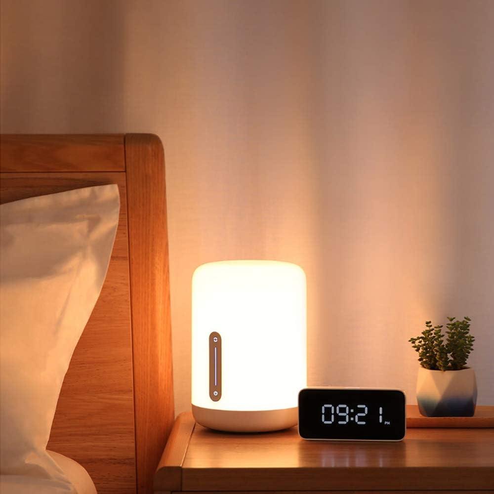 para Mijia Versión 2 Lamparas de Mesa Regulable,1700K-6500K USB Regulable 16 Million Color LED Bedside Lamp Lámpara de Cabecera Niños,Wifi/Bluetooth/Táctil Control Alexa Google Home Homekit