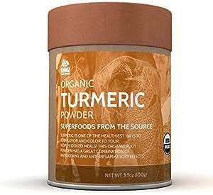 OMG! Superfoods Organic Turmeric Powder - 100% Pure, USDA Certified Organic Turmeric Powder – 3.5oz