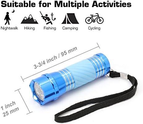 EverBrite Mini Linterna LED Linterna Port/átil Antorcha Linterna Iluminaci/ón Nocturna Ligera y Duradera 3 Bater/ías AAA Incluidas Buen Regalo para Ni/ños Azul