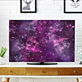 Leighhome Protect Your TV Nebula Gas Cloud Deep Dark in with Star Clusters Infinity Solar Sky Print Protect Your TV W25 x H45 INCH/TV 47''-50''
