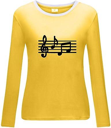 HOUMENGO Camiseta Manga Larga Mujer Camisa Basica Blusa con Cuello Redondo Casual Shirt Blusa De Camiseta Suelta Estampado: Amazon.es: Ropa y accesorios