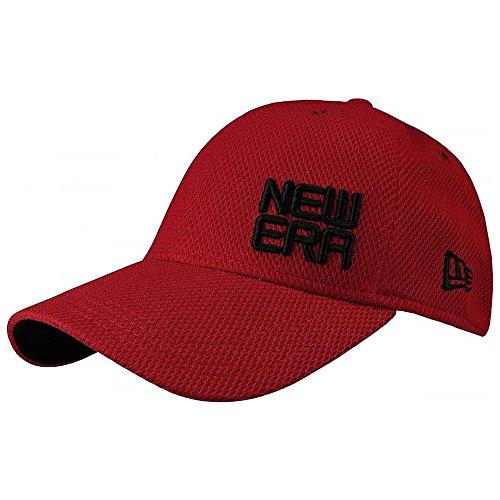 New Era Golf Contour Stacked Logo Stretch Fit Cap-ML (Scarlet, Medium/Large)