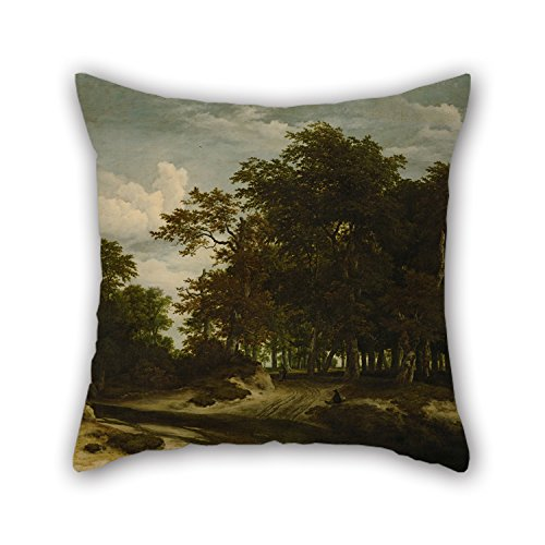 - Artistdecor Oil Painting Jacob Van Ruisdael - The Great Forest Pillow Covers 18 X 18 Inches / 45 By 45 Cm Gift Or Decor For Bedding,sofa,teens,birthday,outdoor,kids Room - 2 Sides