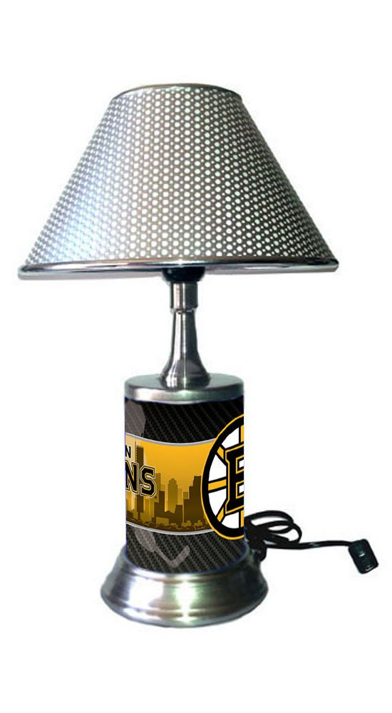 Boston Bruins Lamp with chrome shade