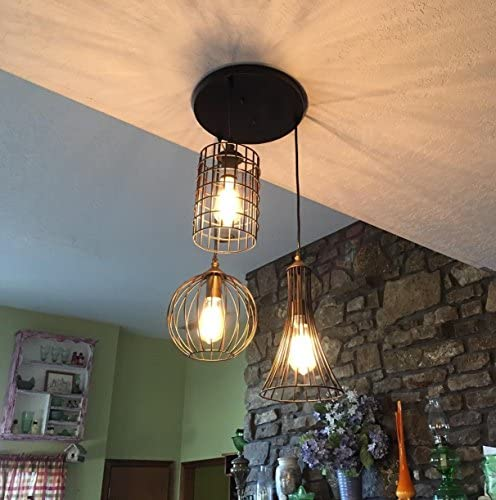 YOBO Lighting Antique 3-lights Oil Rubbed Bronze Chandelier