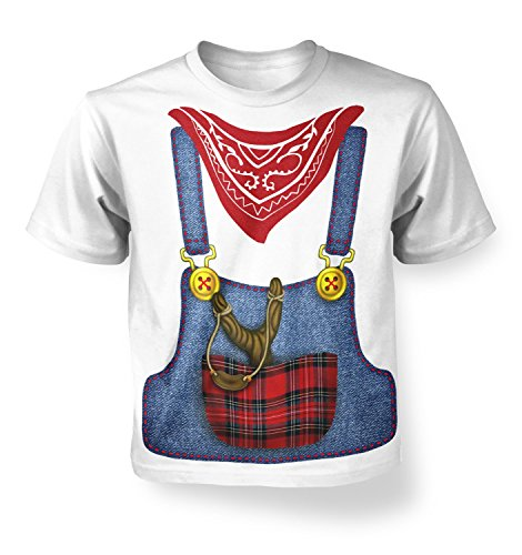 [Hillbilly Costume Kids T-shirt - White XS (3-4)] (Farmers Dress Up Costumes)