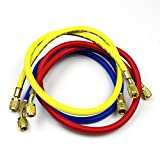 3 Color 60 Inch (4000-800) PSI Air Conditioning Refrigeration R12 R22 R134a Aluminum Charging Hose...