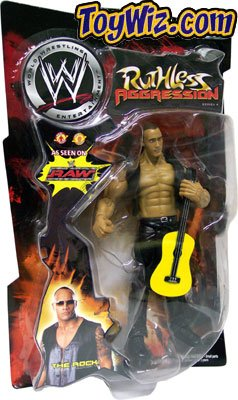 The Rock with Guitar Ruthless Aggression Series 4 RAW WWF WWE Wrestling Action Figure
