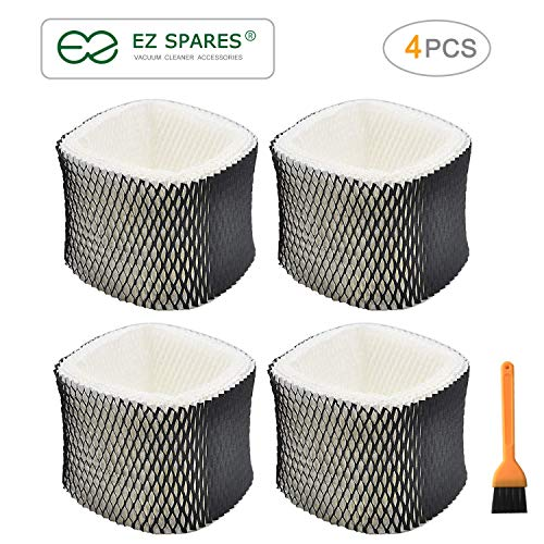 EZ SPARES 4pcs Replacement Humidifier Filter A for Holmes HWF62,Holmes Models HM1701, HM1761, HM1300 & HM1100, Compare to Part # HWF62, HWF62D(Activated Carbon Surface)