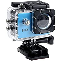 1080P Action Sports Camera -Self Timer,Tuscom Waterproof ( 30 Meters Under Water) Action Camera (2.0 Inch Ultra HD Screen)Camcorder HD 1080P Mini DV Cam+ Parts for Gopro (Blue)