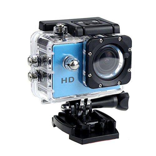 - 1080P Action Sports Camera -Self Timer,Tuscom Waterproof ( 30 Meters Under Water) Action Camera (2.0 Inch Ultra HD Screen)Camcorder HD 1080P Mini DV Cam+ Parts for Gopro (Blue)
