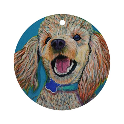 CafePress Lil' Poodle Ornament (Round) Round Holiday Christmas Ornament