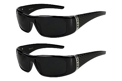 2er Pack Locs 9058 Choppers Sport Brille Sonnenbrille Männer Frauen schwarz weiß kUSdSsCJ