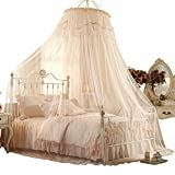 Court Dome Ceiling Mosquito Net/Princess Fine Mosquito Net/European Romance,Grounding Bed Net/Encryption Thickening,Fashion,Free Installation Of Mosquito Nets-A D