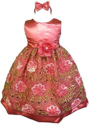 Amazon.com: AMJ Dresses Inc Baby Girls' Wedding Flower ...