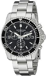 Victorinox Men's 241695 Maverick Chrono Analog-Display Swiss Quartz Silver-Tone Watch
