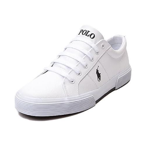 US Polo Association Ralph Lauren - Zapatillas de casa Hombre, Color Blanco, Talla 41 EU / 7 UK: Amazon.es: Zapatos y complementos