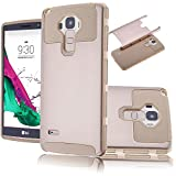LG G Stylo Case,Lookly Premium Extra Slim Hybrid Shockproof Case, [TPU + Soft Silicone] Protective Case Cover for LG G4 Stylus LS770 / LG G Stylo (1-Gold)
