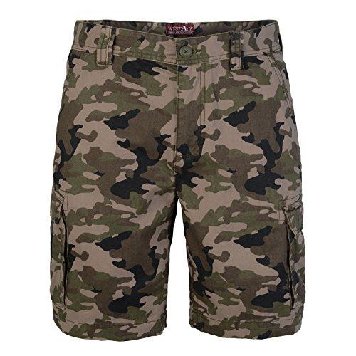 44b8a817c878 West Ace, Herren-Shorts, Tarnfarben, mittellang, 100% Baumwolle  Amazon.de   Bekleidung
