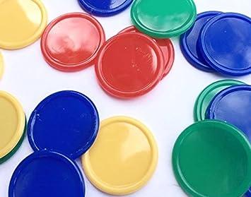 500 fichas de póquer, para bebidas, de 4 colores: Amazon.es: Juguetes y juegos