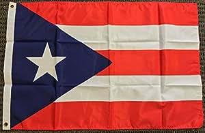 2x 3bandera de Puerto Rico Rican bandera Commonwealth banderín bandera Nueva poliéster colores vivos y ultravioleta resistente a la decoloración–cabecera y doble costura poliéster materia