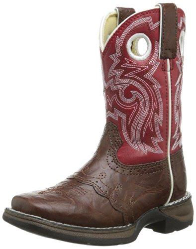 Durango Kids BT285 Lil' 8 Inch Saddle,Chestnut/Red,3 M US Little Kid ()
