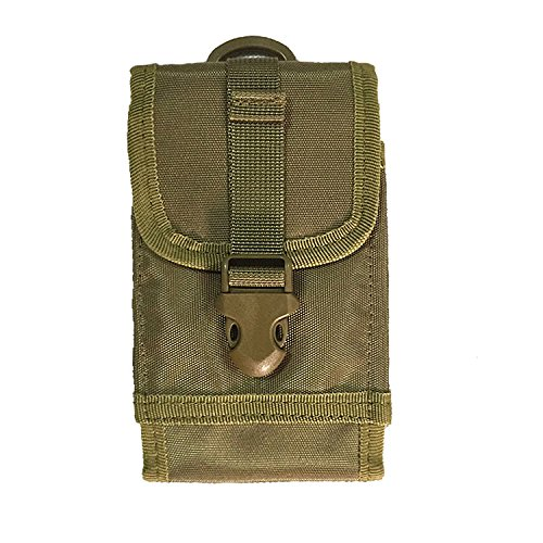 Tactical Smartphone Pouch Military Waist Bag Quick Release Phone Holster with Molle Belt for 4.7