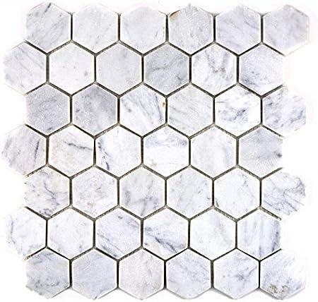Mosaique Pour Carrelage Marbre Pierre Naturelle Hexagon Marbre
