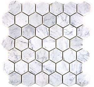 Mosaikfliesen Aluminium Manhatten Hexagon Gold