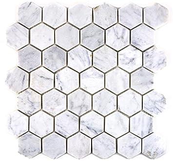 Mosaique Pour Carrelage Marbre Pierre Naturelle Hexagon
