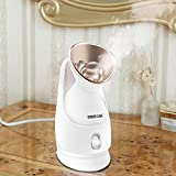 KINGDOMBEAUTY Hot Mist Moisturizing Nano Ionic Facial Steamer Unclogs Pores Clear Blackheads Acne Nanosteamer Golden
